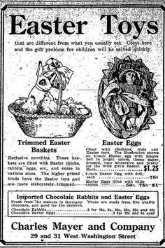 Indianapolis Star 1913 Easter ads.