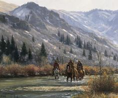 In The Canyon Art Print #Western #Art