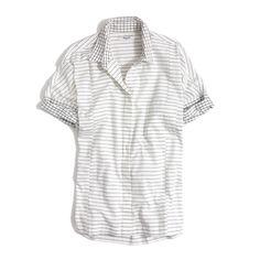 madewell grid-mix short-sleeve shirt: r&b singer-songwriter kelela's pick. #madewellxspotify