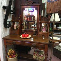 Antique English dresser or desk. Great piece for anywhere in the house!!