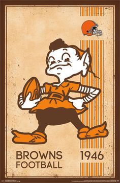 Cleveland Browns - Retro Logo 2014 | NFL | Sports | Hardboards | Wall Decor | Pictures Frames and More | Winnipeg | Manitoba | MB | Canada