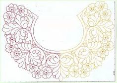 b Cutwork Embroidery, Embroidery Patterns, Cut Work, Hobbies And Crafts, Salons, Mandala, Neckline, Tapestry, Draw