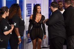 It's all about Kim: The 35-year-old was surrounded by excited fellow guests as…