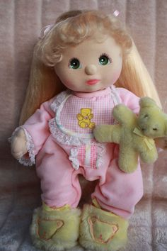 My Child Doll Blonde UL 88 Green Charcoal/Grape