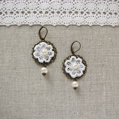 blog about handcrafted journals and jewelry: how to make lace earrings