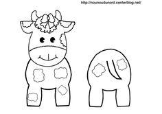 Coloriage vache pour rouleau de papier wc