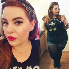 Tess Holliday rocking a super cute outfit!
