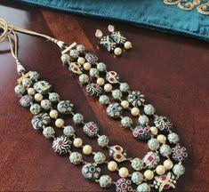 Back Jewelry, Beaded Jewelry, Beaded Necklace, Gold Jewelry, Wedding Jewelry, Jewelry Necklaces, Gold Necklace, India Jewelry, Boho Jewellery