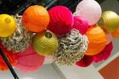 studio 5...paper lantern chandelier...