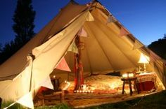 Sandstone Bell Tent from Boutique Camping. Journalists download hi-res image here: http://zero2one.pressloft.com/product.php?pid=498667&tid=1