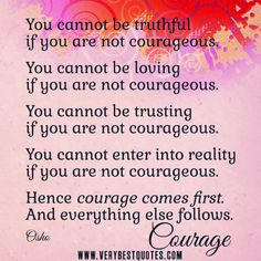 courage to be authentic.....