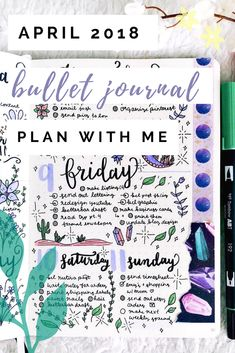 April 2018 Bullet Journal Set-Up | Plan With Me Blog & Video | Plantful
