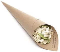 The Confetti Cone Company- wedding - Brown, Sage & ivory wedding confetti petals with personalised mr & mrs confetti cones £2.50 for 5 www.confetti-cones.co.uk