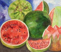 Viva la vida- Frida Kahlo ~ La Hoja de Albahaca