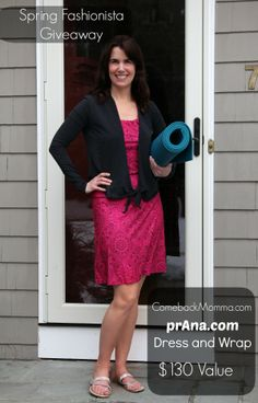 Lovely outfit of dress and wrap from @prAna hosted on ComebackMomma.com #giveaway #win #sweeps