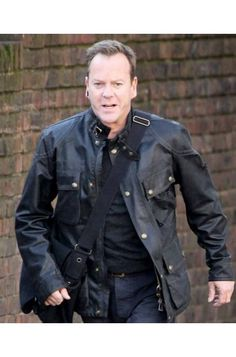24 Live Another Day Jack Bauer Leather Jacket at Discounted Price $124.00 From The Drama Series 24 Live Another Day Jacket Worn By Kiefer Sutherland as Jack Bauer For Men for Sale. Free Shipping to UK, USA and Canada Buy Online Now!.  #24LiveAnotherDay #JackBauer #LeatherJacket #Jacket #MenFashion #BlackLeatherJacket #KieferSutherland #Coat