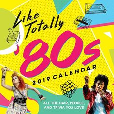 2019 Like Totally Wall Calendar: All the Hair, People, and Trivia You Love – Book Library Madonna Quotes, Punk Prom, 1980s Looks, Baby Movie, Morning Cartoon, Music For Kids, Love Is Free, Animal Fashion, Pop Culture