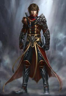 MagnaLeon by MagnaLeon elf fighter knight prince warrior armor clothes clothing fashion player character npc Fantasy Anime, Fantasy Male, Fantasy Armor, Medieval Fantasy, Dark Fantasy, Fantasy Character Design, Character Concept, Character Art, Concept Art