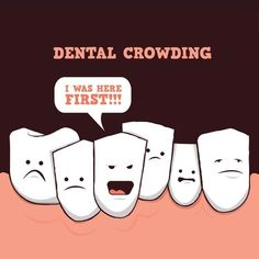 Dental crowding can cause impacted teeth! Call Premier Dental at if you are experiencing any dental discomfort Dental Quotes, Dental Facts, Dental Humor, Radiology Humor, Nurse Humor, Dental Health, Oral Health, Dental Care, Orthodontic Humor