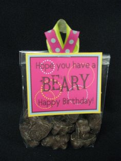 Beary Happy.  I think I might use gummy bears.  #birthday  #bear  #gift