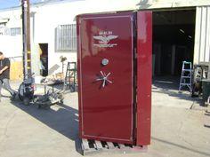 Self filling concrete NBC vault door