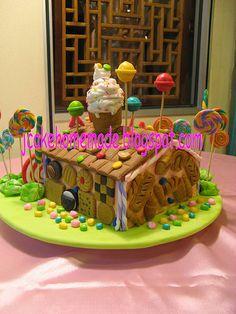 Candy house birthday cake