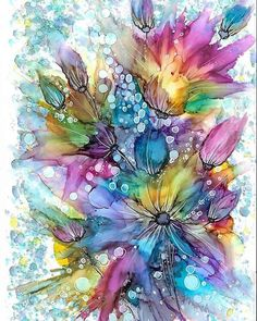 This is a print of my original painting. Medium- alcohol inks Size A4.