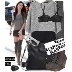 Celebrity style: Megan Fox!, created by manuelita