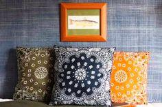 DIY Bandana Pillows | Dollar Store Crafts For The Homestead