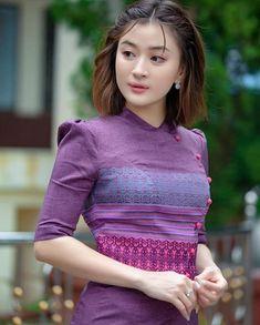 Sexy Dresses, Fashion Dresses, Girls Dresses, Short Dresses, Myanmar Dress Design, Myanmar Women, Ethnic Dress, People Dress, Sexy Asian Girls