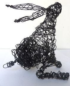 Make your own Wire Moongazing Hare. PDF instruction booklet and template