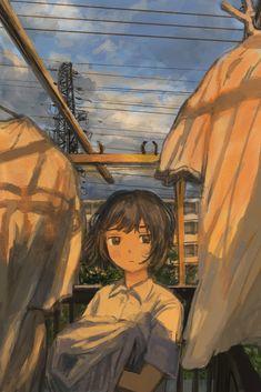 Pretty Art, Cute Art, Art Is Dead, Landscape Concept, Funky Art, Anime Art Girl, Anime Girls, Art Studies, Art Plastique