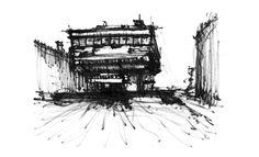 https://flic.kr/p/oCQdtW | Biblioteca Nacional de la República Argentina | Serie de croquis hechos como parte de la cursada de la materia Representación Arquitectónica 2013 de la carrera de Arquitectura de la FADU - UBA.  Marcadores indelebles en papel común A4 + edición en Photoshop.
