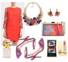 Look de boda para invitadas vestido naranja Club Monaco
