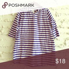 👧{babygap} Striped Beach Dress Beezy cotton blue and white stripes. Back button at neck. Lined. Excellent condition! baby gap Dresses Casual