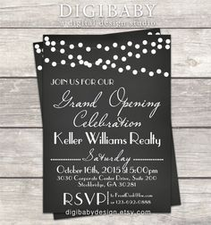 Chalkboard Event Open House Grand Opening invitation printable digital custom files