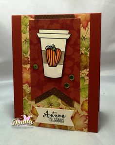 Handmade coffee card by Donna Idlet using the Latte Love Digital Set from Verve. #vervestamps