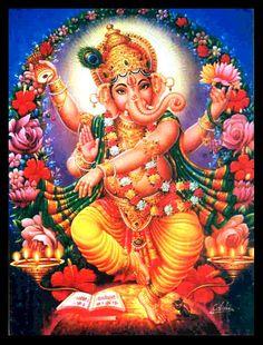 Mature Religion Ganesha Hindu God Dance in by Crafterssupplies, $21.00