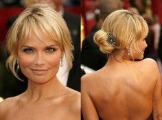 pinterest upsweep hairstyles medium length - Google Search