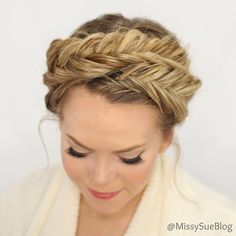 """""""Starting a new braid series today, 12 Braids for Spring!  This fishtail crown braid is the first braid and it's live! #braidphotos #hairstyles #instahair #ighair"""" Photo taken by @missysueblog on Instagram, pinned via the InstaPin iOS App! http://www.instapinapp.com (03/22/2015)"""