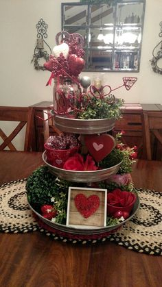 Valentine's Day 3 tier tray decor