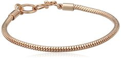Pilgrim Jewelry Damen-Armband Messing aus der Serie roségold beschichtet, 18.5 cm 401329007