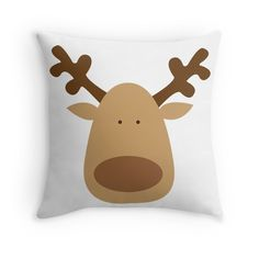 Rudolph! Christmas pillow on red bubble and society 6! silvia-vacca.redbubble.com & society6.com/silviavacca
