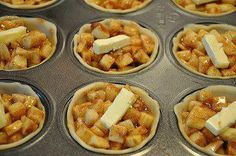 Mini Apple Pies in a muffin pan   http://www.littlebitfunky.com/2011/10/what-i-made-for-monday.html
