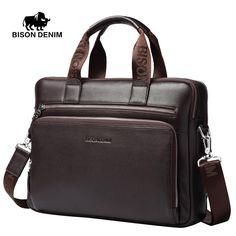 Men Genuine leather briefcases Laptop handbag Business Messenger/Shoulder Bags for Men
