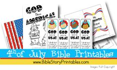 I'm going to print some of these out to entertain the kids in the car!  -->Tons of Free Fourth of July Bible Printables from various sites.