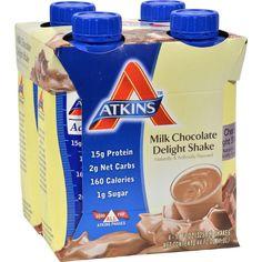 Atkins Advantage Rtd Shake Milk Chocolate Delight - 11 Fl Oz Each - Pack Of 4