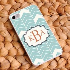 "Uniquely Custom - ""Sea Mist"" Personalized Chevron iPhone Case, $22.00  #BridesmaidGift #PersonalizedGift #UniqueGift"