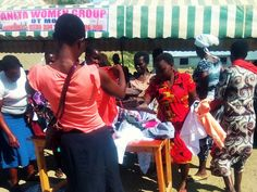 The donations help the families get new clothes.