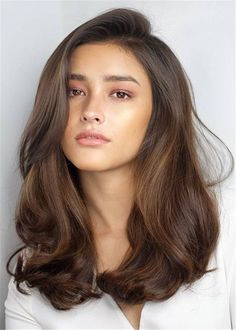 One Side Parted Wavy Human Hair Women Wig 20 Inches Wavy Hair hair Human Inches Parted Side wavy Wig Women Medium Hair Styles, Natural Hair Styles, Long Hair Styles, Jessica Alba Haar, Cool Hair Color, Hair Goals Color, Gorgeous Hair Color, Pretty Hairstyles, Guy Hairstyles